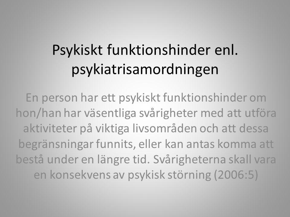 Psykiskt funktionshinder enl.