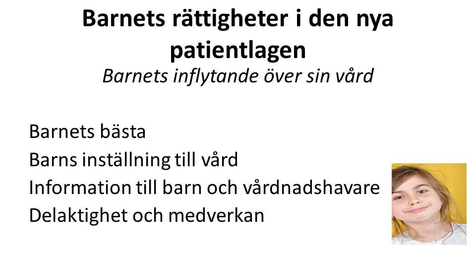 Artikel 3 Barnets bästa Störst genomslagskraft i svensk lag Vad är barnets bästa.