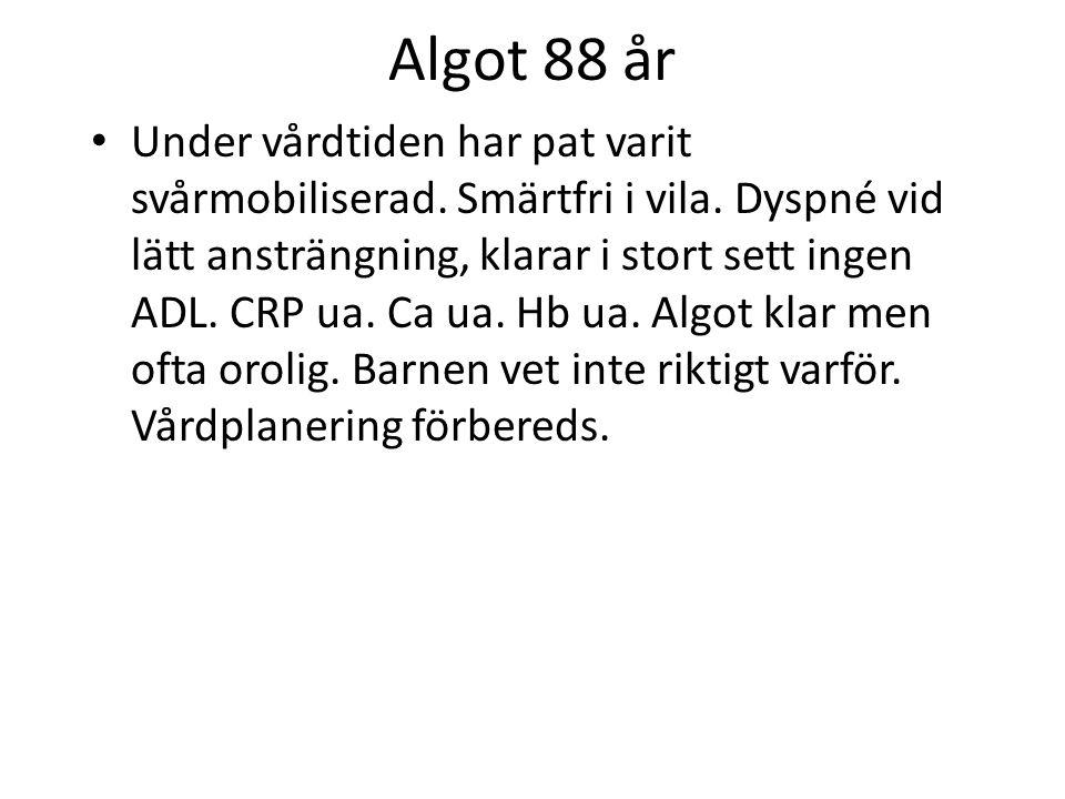 Algot 88 år Vårdplaneringen avbryts eftersom Algot försämras.