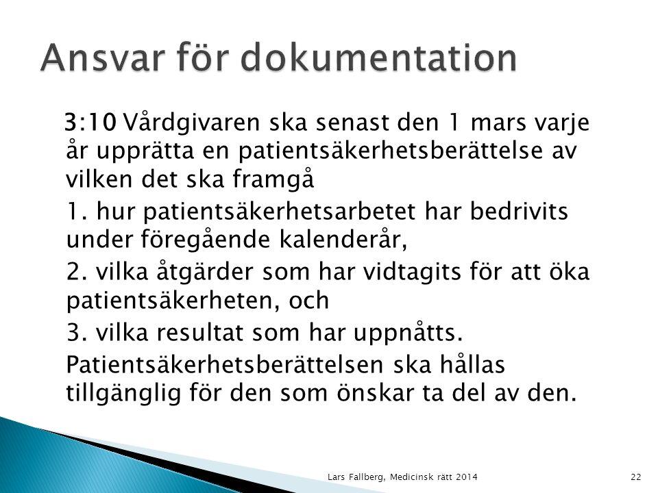 10 § IVO ska efter anmälan pröva klagomål mot hälso- och sjukvården och dess personal.