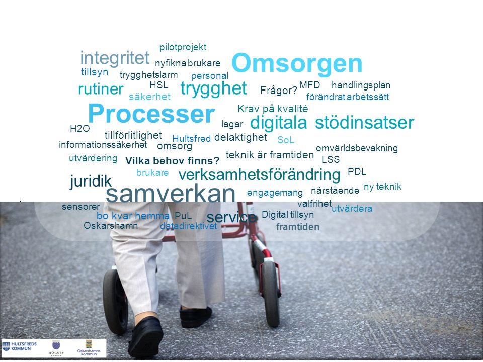 < < < < Hultsfred teknik är framtiden Oskarshamn samverkan sensorer integritet trygghet Krav på kvalité Processer omvärldsbevakning förändrat arbetssä