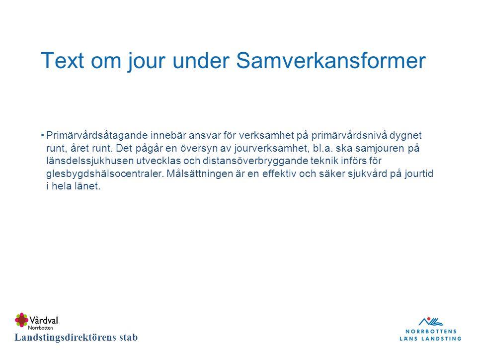 DIVISION Landstingsdirektörens stab Nya patientlagens påverkan på Beställning primärvård De patienter som söker öppenvård i Norrbottens län har rätt att fritt välja mellan olika hälsocentraler i primärvården.