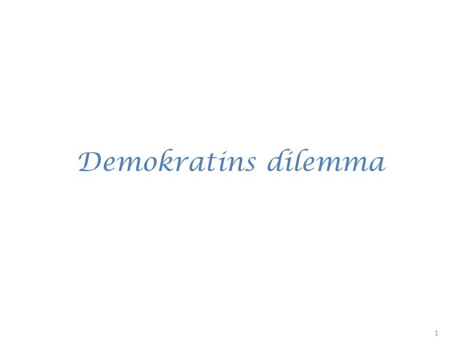 Demokratins dilemma 1