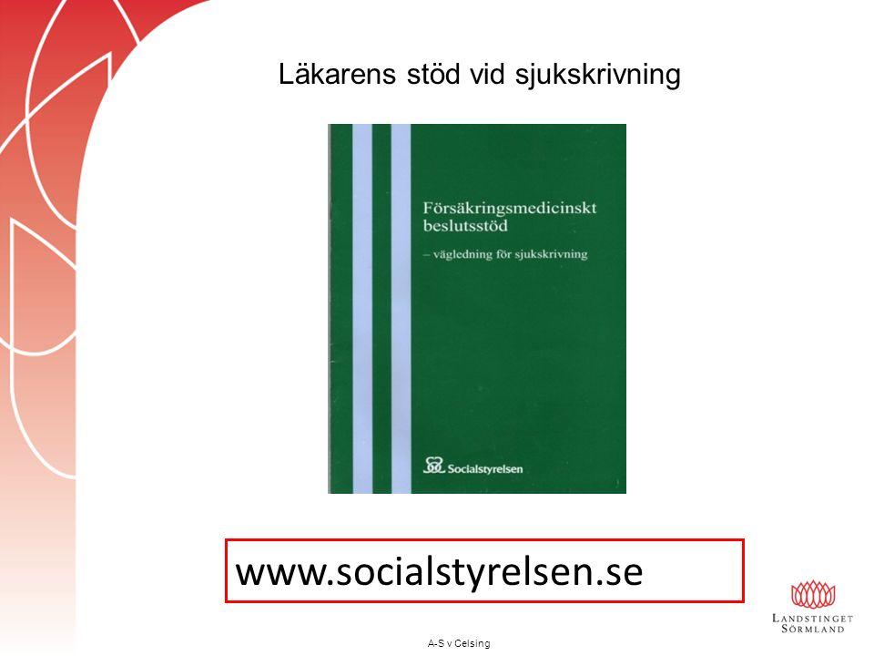www.socialstyrelsen.se A-S v Celsing Läkarens stöd vid sjukskrivning