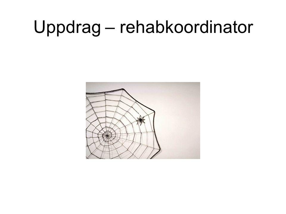 Uppdrag – rehabkoordinator