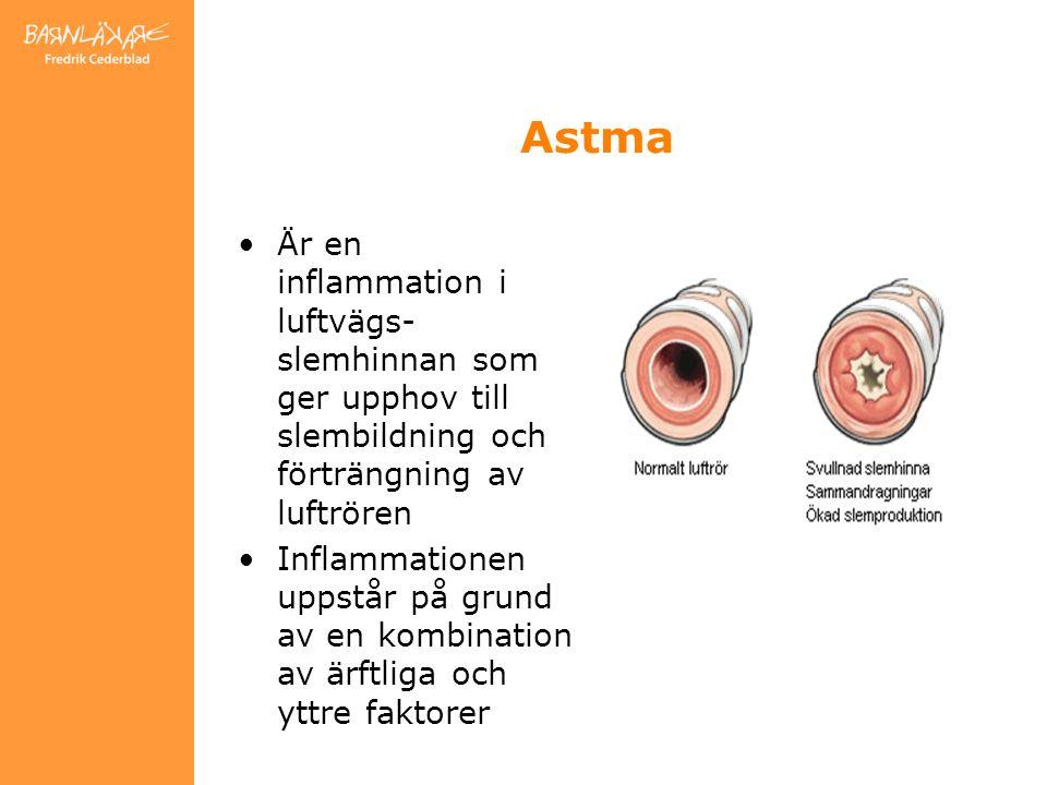 Är en inflammation i luftvägs- slemhinnan som ger upphov till slembildning och förträngning av luftrören Inflammationen uppstår på grund av en kombination av ärftliga och yttre faktorer