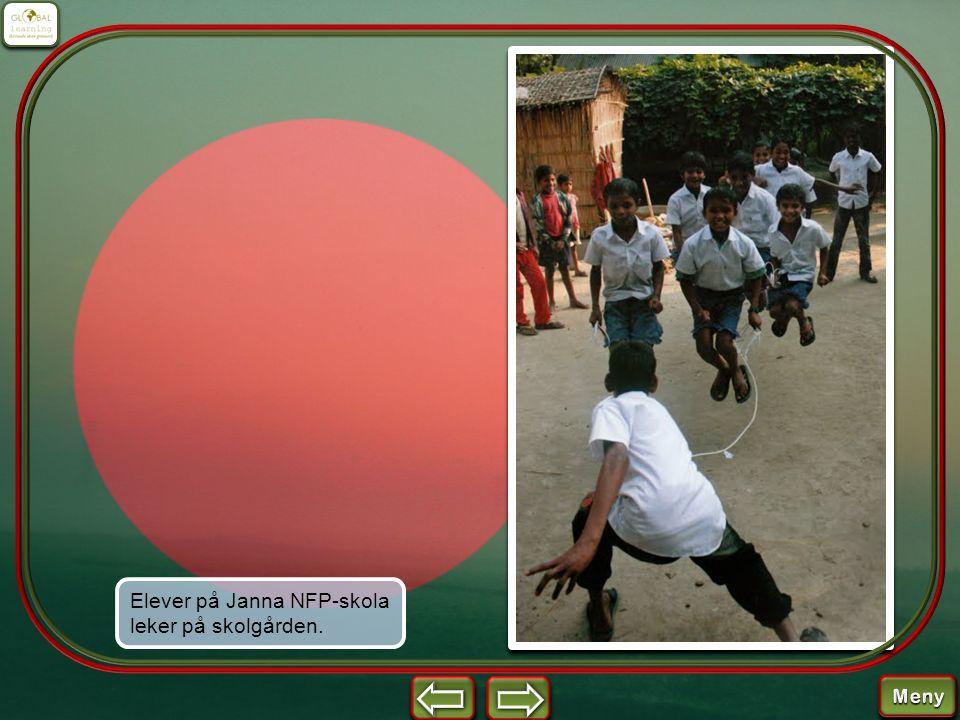 Elever på Janna NFP-skola leker på skolgården.