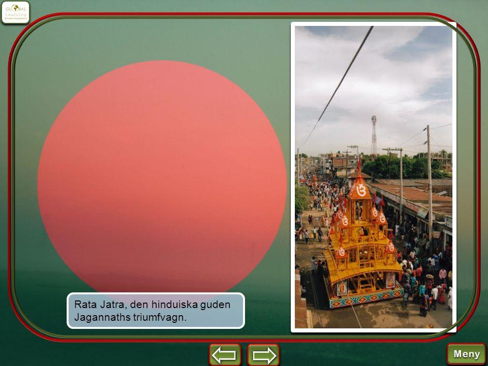 Rata Jatra, den hinduiska guden Jagannaths triumfvagn.