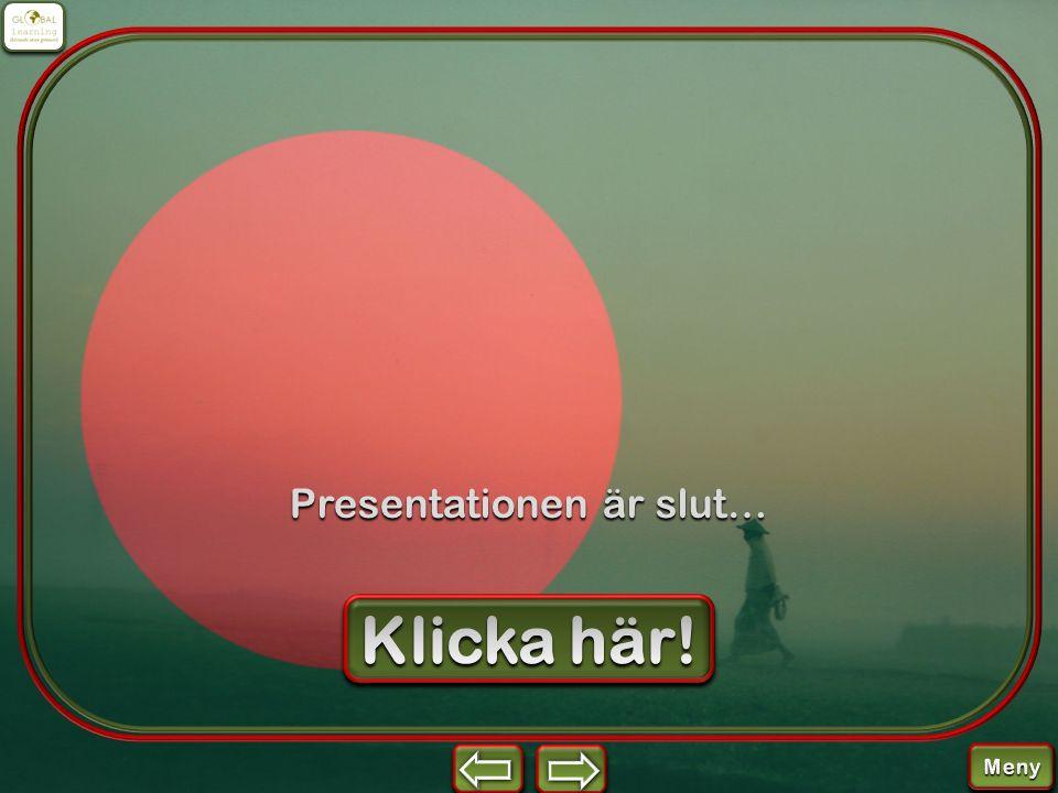 Presentationen är slut…