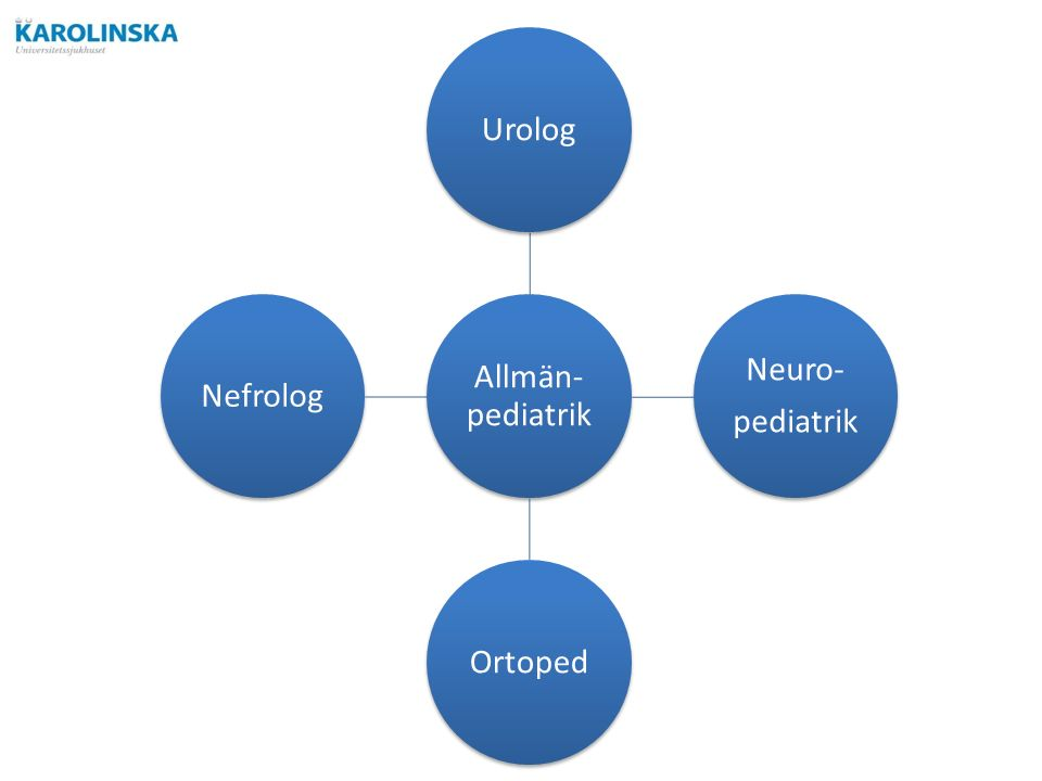 Allmän- pediatrik Urolog Neuro- pediatrik OrtopedNefrolog