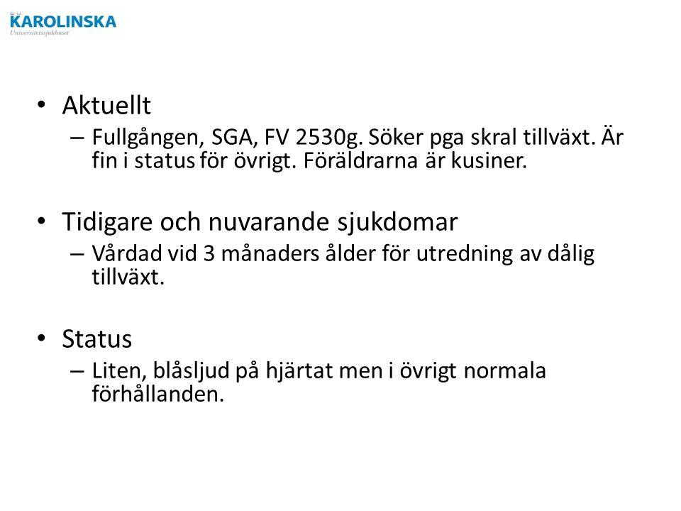 Aktuellt – Fullgången, SGA, FV 2530g. Söker pga skral tillväxt.