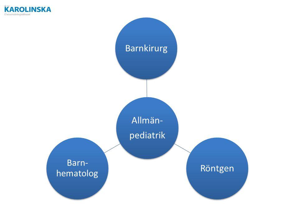 Allmän- pediatrik BarnkirurgRöntgen Barn- hematolog