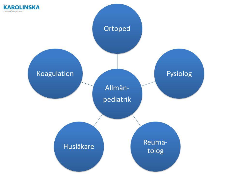 Allmän- pediatrik OrtopedFysiolog Reuma- tolog HusläkareKoagulation