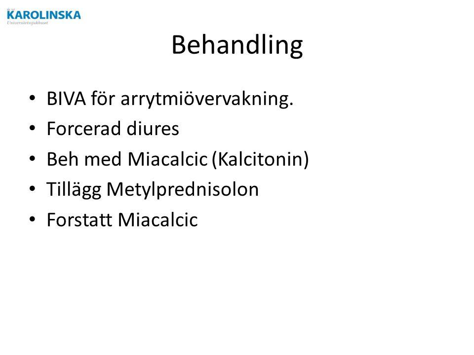 Behandling BIVA för arrytmiövervakning.