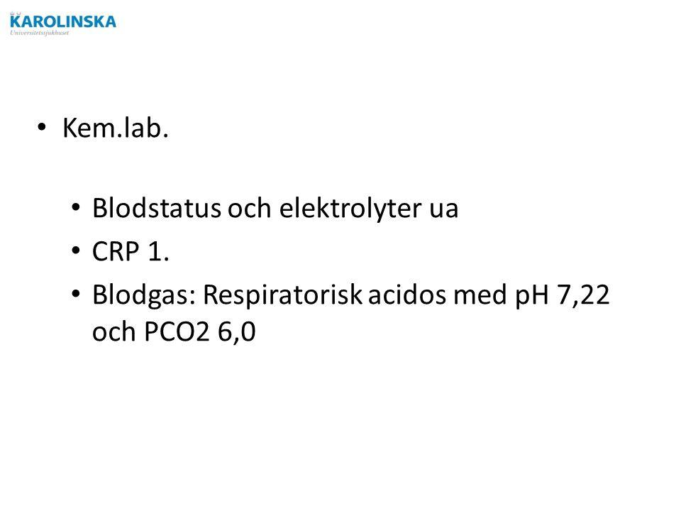 Kem.lab. Blodstatus och elektrolyter ua CRP 1.