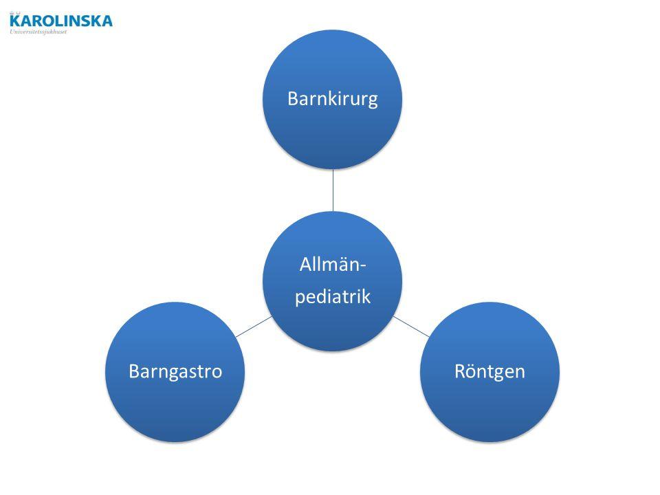 Allmän- pediatrik BarnkirurgRöntgenBarngastro