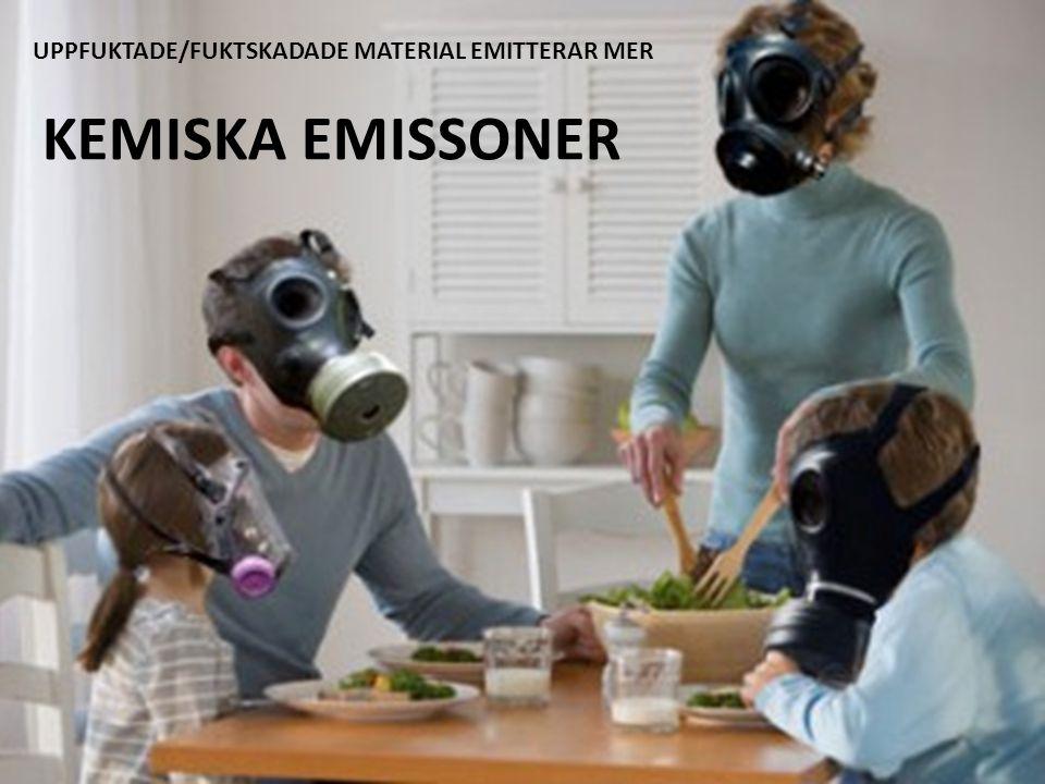 UPPFUKTADE/FUKTSKADADE MATERIAL EMITTERAR MER KEMISKA EMISSONER