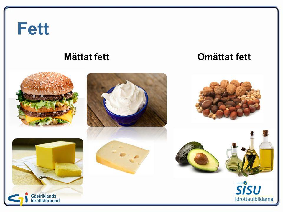 Fett Mättat fett Omättat fett