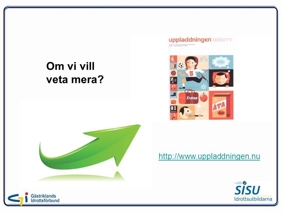 Övriga källor Livsmedelsverket www.slv.sewww.slv.se Riksidrottsförbundet www.rf.se www.svenskidrott.sewww.rf.sewww.svenskidrott.se Välj dina kunskapskällor med omsorg!