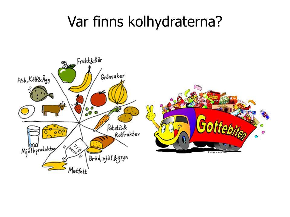 Var finns kolhydraterna?