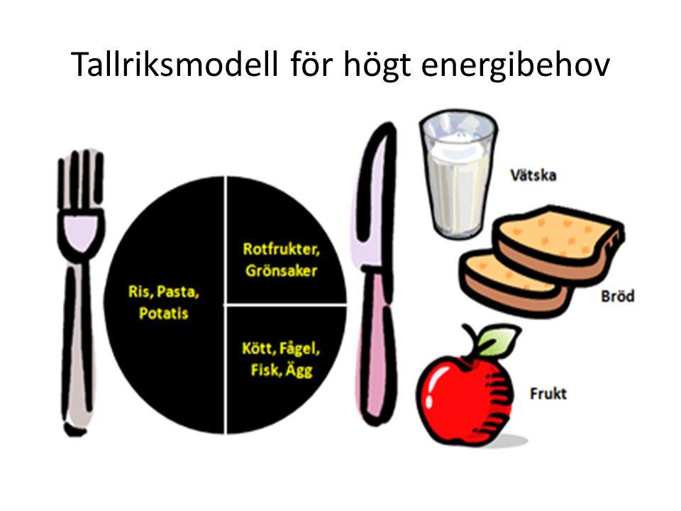 Tallriksmodell för högt energibehov
