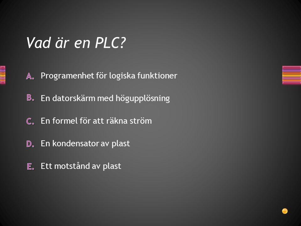 Vad är en PLC.