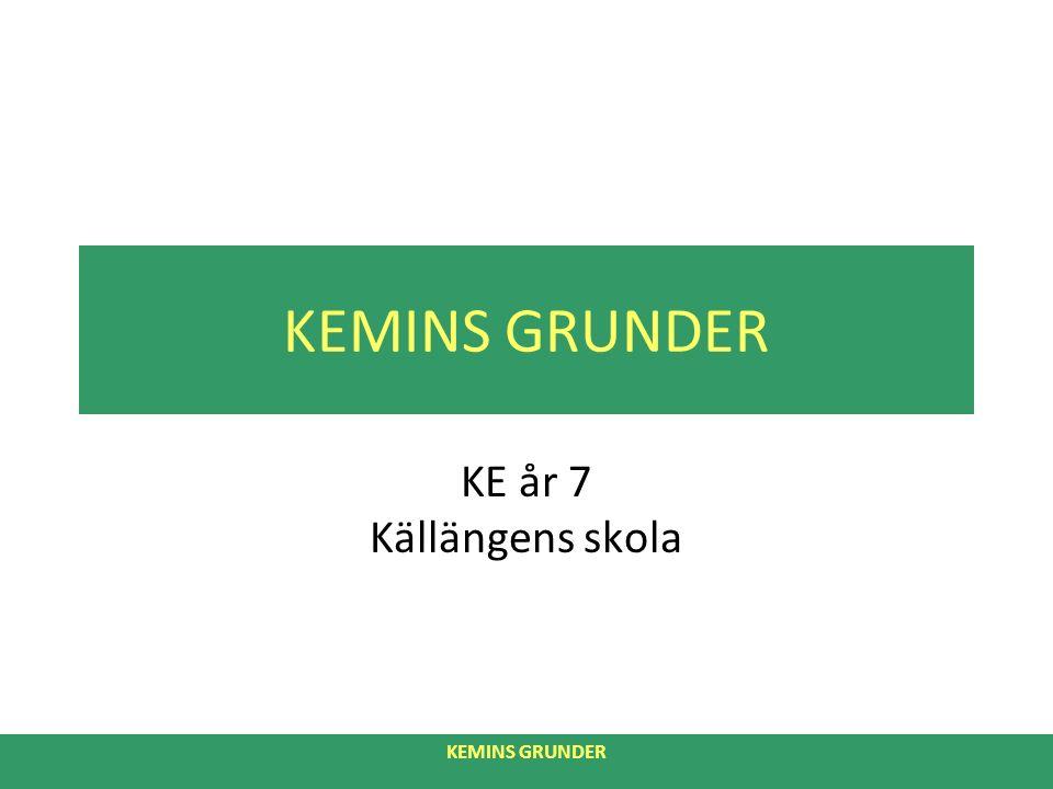KEMINS GRUNDER KE år 7 Källängens skola