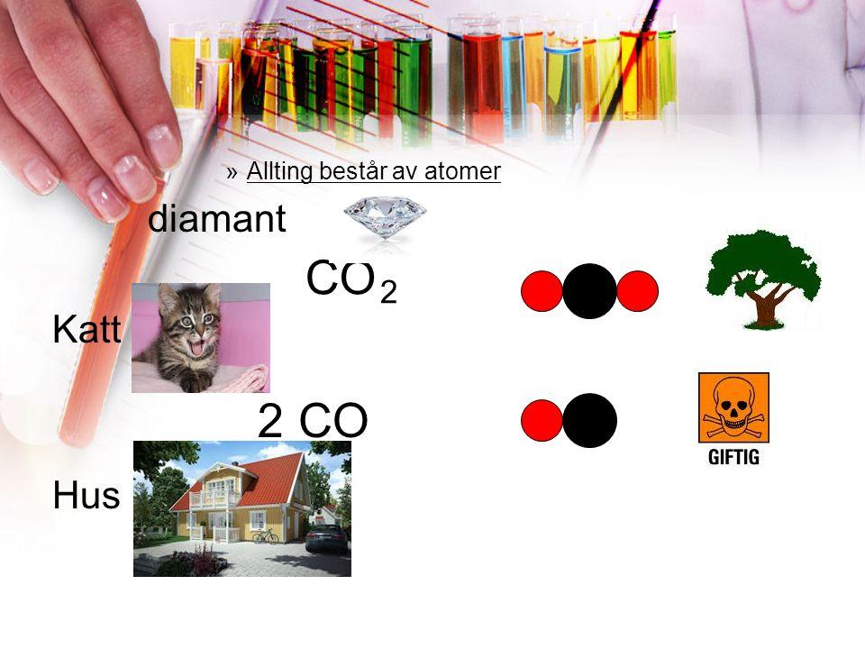 »Allting består av atomer diamant Katt Hus CO 2 2CO