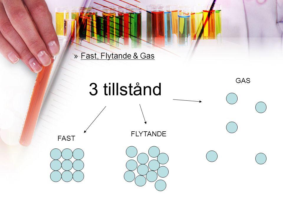 »Fast, Flytande & Gas FAST FLYTANDE GAS 3 tillstånd