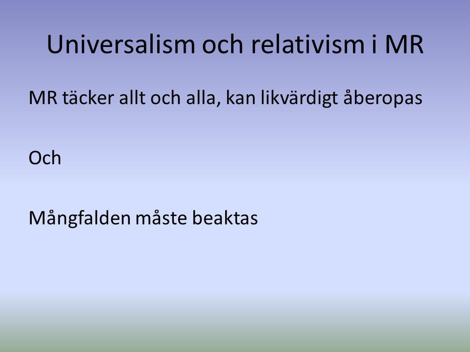 Relativism och filosofi Relativism: sanning/kunskap om världen är relativt i förhållande till vår intellektuella bakgrund.
