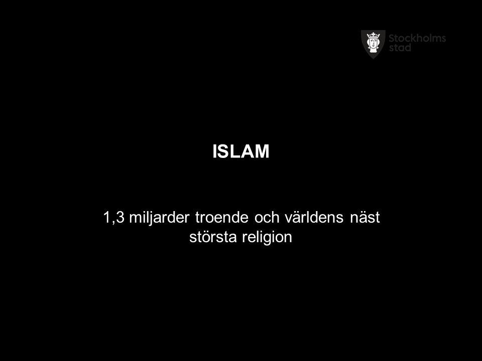 ISLAM 1,3 miljarder troende och världens näst största religion