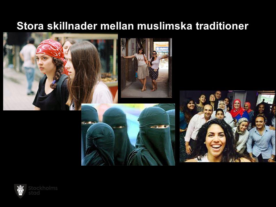 Stora skillnader mellan muslimska traditioner