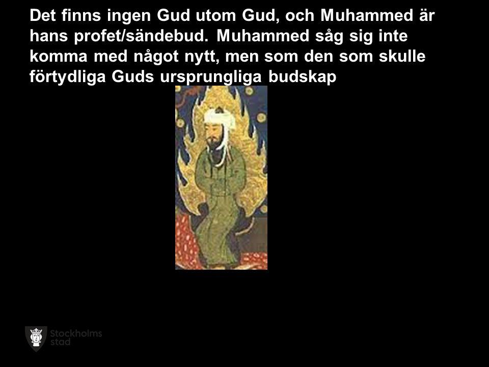 Det finns ingen Gud utom Gud, och Muhammed är hans profet/sändebud.