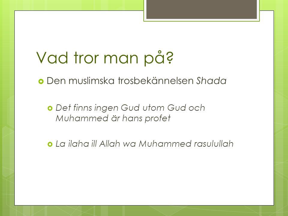 Islam del 2 Religion helt enkelt s. 138-139