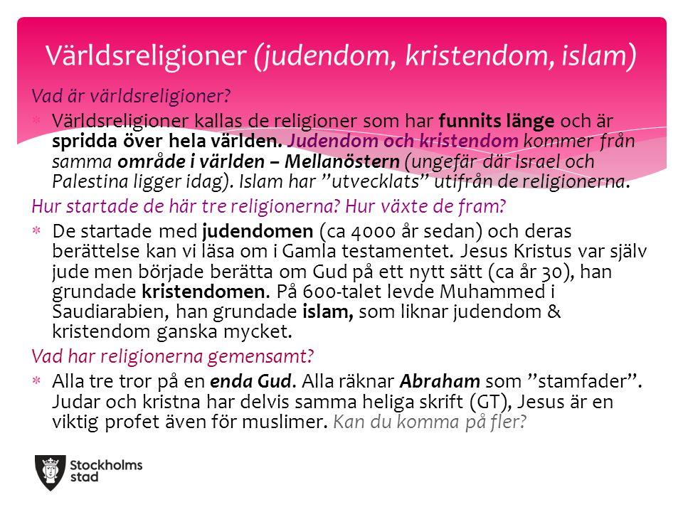 Vad är världsreligioner.
