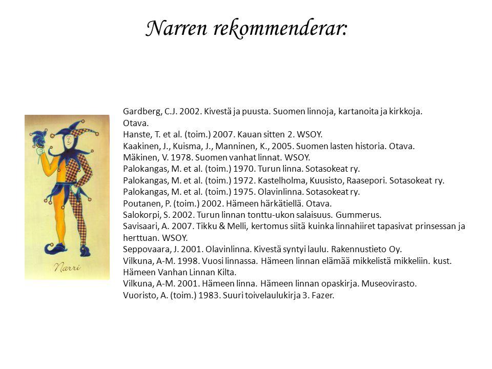 Narren rekommenderar: Gardberg, C.J. 2002. Kivestä ja puusta.