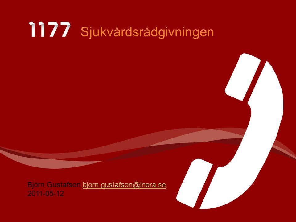 Sjukvårdsrådgivningen Björn Gustafson bjorn.gustafson@inera.sebjorn.gustafson@inera.se 2011-05-12
