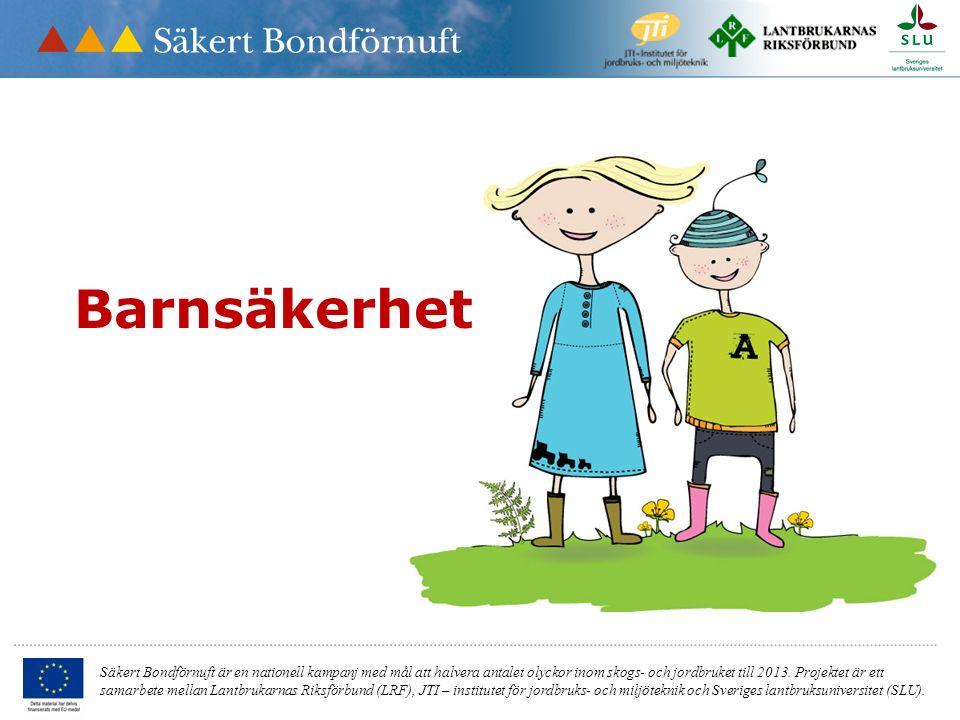 Säkert Bondförnuft är en nationell kampanj med mål att halvera antalet olyckor inom skogs- och jordbruket till 2013. Projektet är ett samarbete mellan