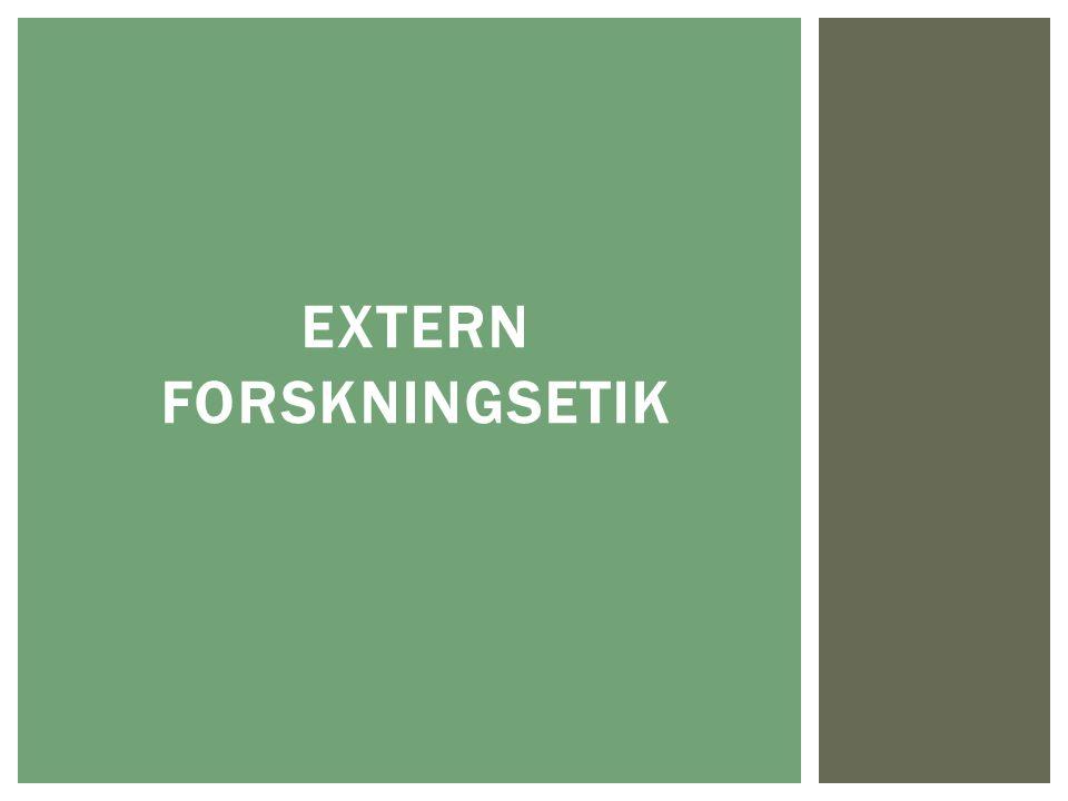 EXTERN FORSKNINGSETIK