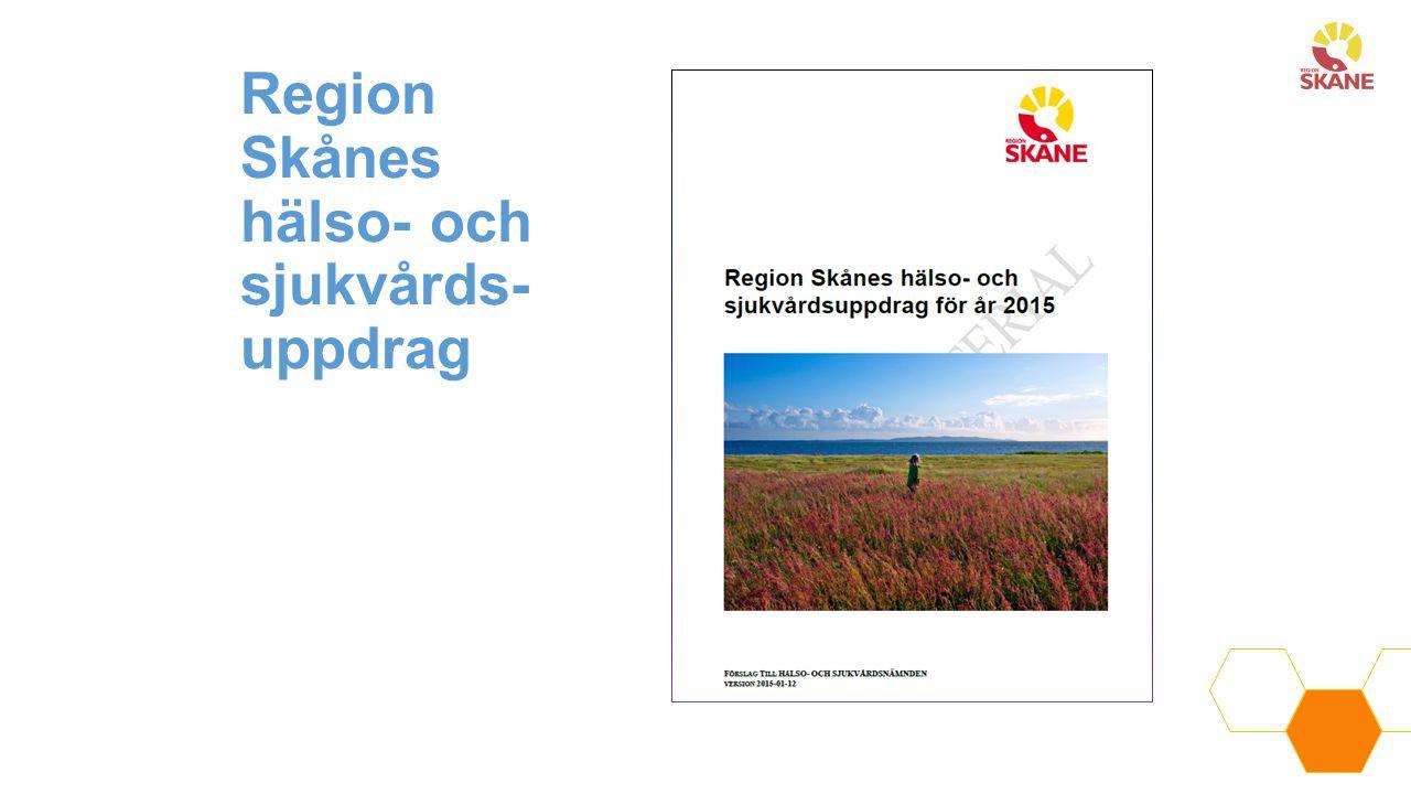 Region Skånes hälso- och sjukvårds- uppdrag