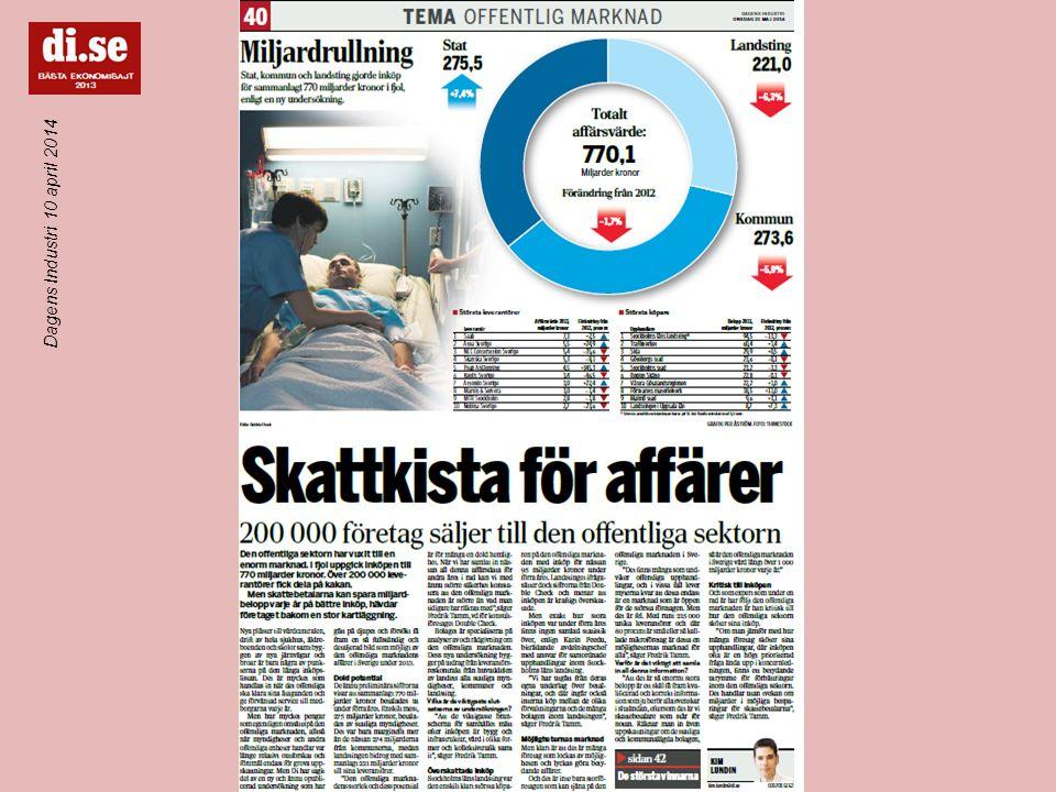 Frågor SMS till # 073 747 06 00 Dagens Industri 10 april 2014