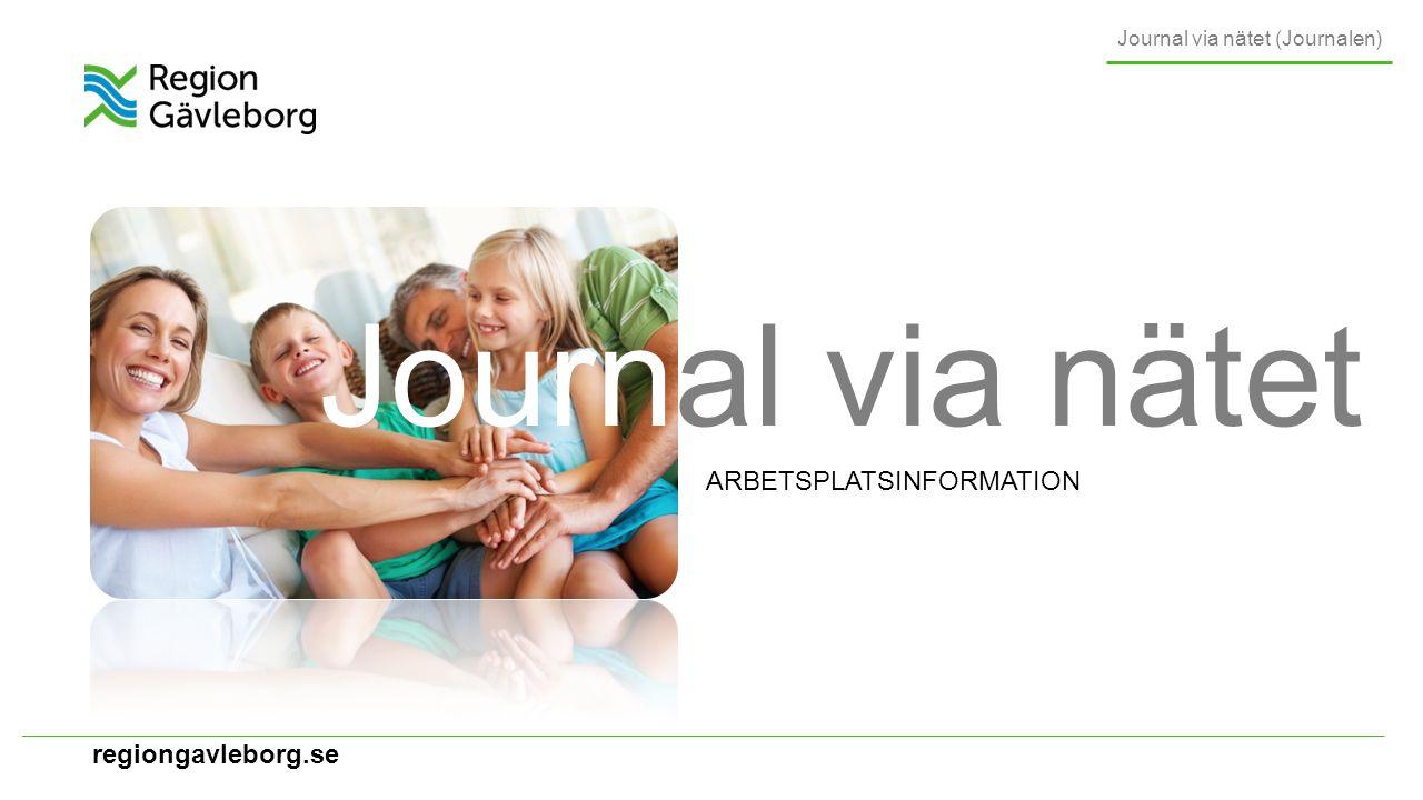 regiongavleborg.se Projektstatus RG Journal via nätet (Journalen) Planerad driftstart för RG 1 november 2016 Information som skrivs från och med 1 oktober visas Räknar med att kunna visa anteckningar, diagnoser (specialistvård), vaccinationer (från Svevac) och kontaktinformation i den första versionen Allt eftersom kompletteras tjänsten med nya informationsmängder inom ramen för den nationella tjänsten 1 oktober 2016 anteckningar diagnoser vaccinationer
