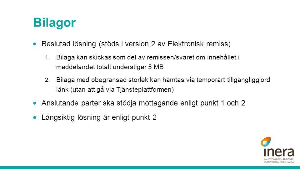 Bilagor  Beslutad lösning (stöds i version 2 av Elektronisk remiss) 1.