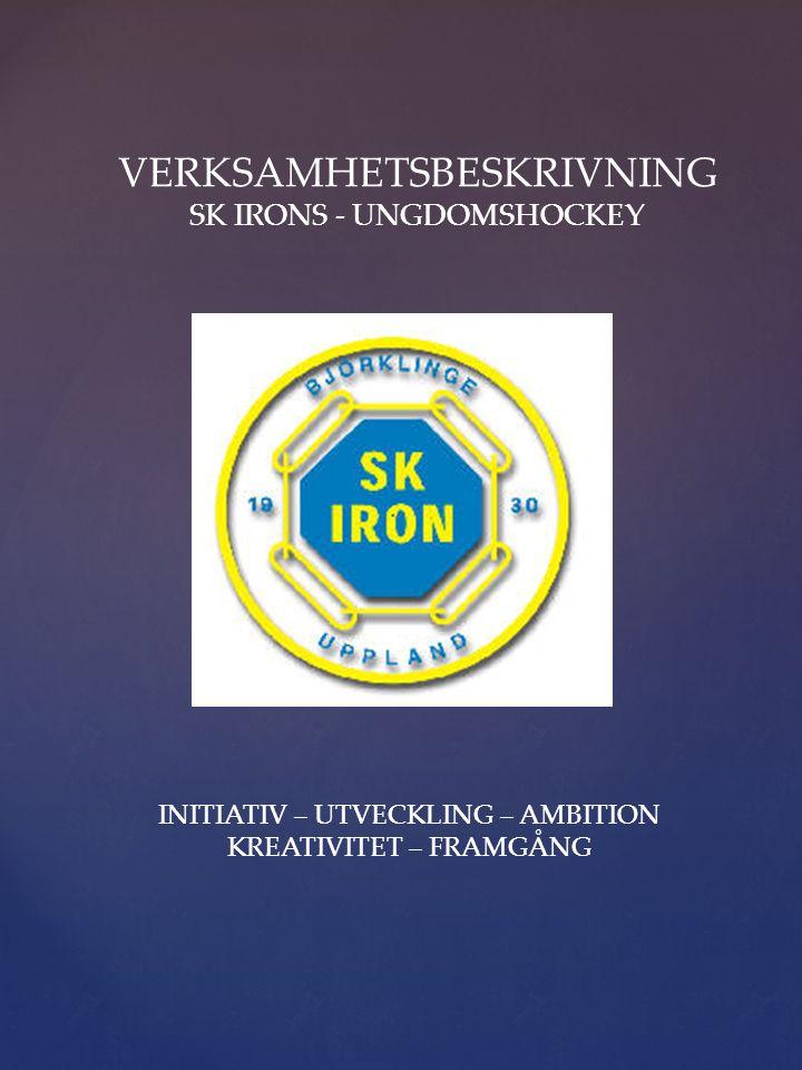 VERKSAMHETSBESKRIVNING SK IRONS - UNGDOMSHOCKEY INITIATIV – UTVECKLING – AMBITION KREATIVITET – FRAMGÅNG