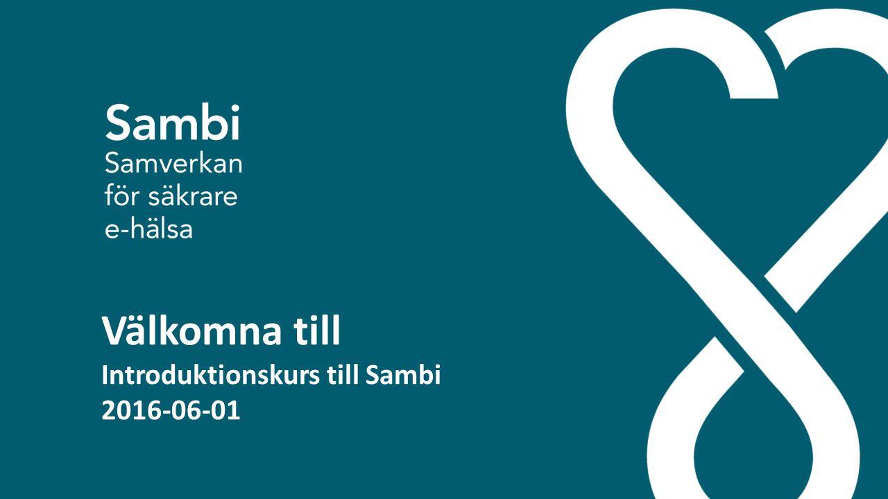 Välkomna till Introduktionskurs till Sambi 2016-06-01