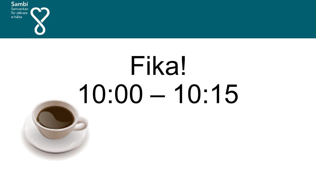 Fika! 10:00 – 10:15