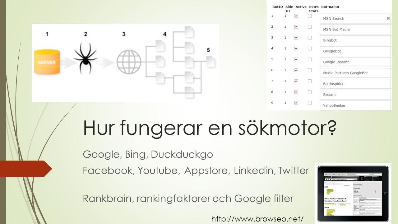 Hur fungerar en sökmotor.