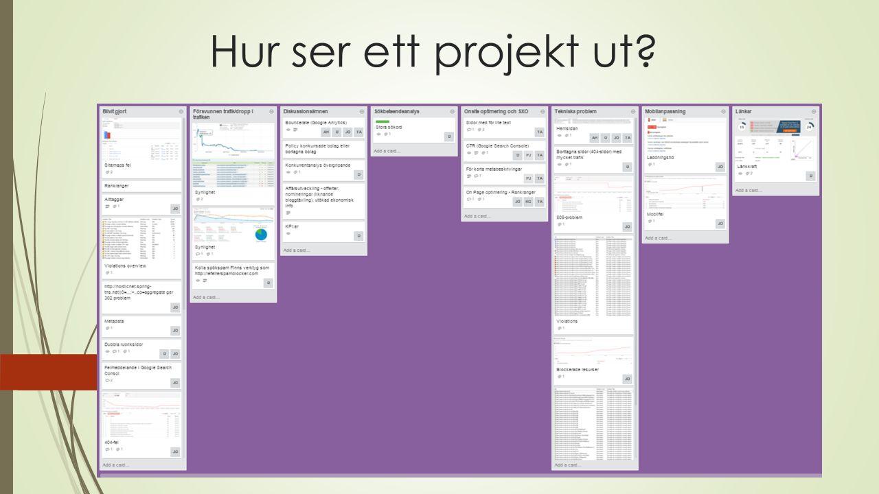 Hur ser ett projekt ut?
