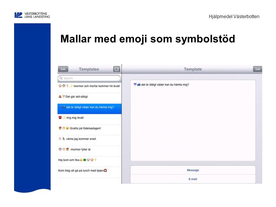 Hjälpmedel Västerbotten Mallar med emoji som symbolstöd
