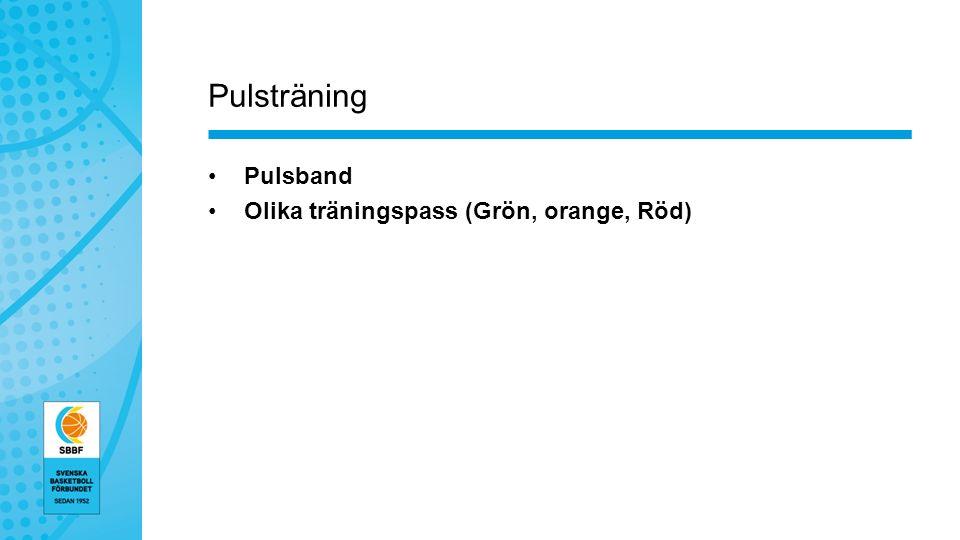Pulsträning Pulsband Olika träningspass (Grön, orange, Röd)